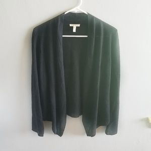 Eileen Fisher XXS Linen Black Overcoat